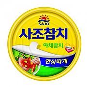 참치캔-야채100g(사조)